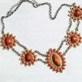 Orange statement necklace