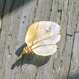 Lightly Tumbled Untreated Natural Citrine Pendant