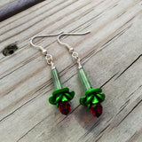Green Aventurine Rose Bud Assemblage Earrings