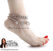 Load image into Gallery viewer, Iced Out Butterfly Anklet