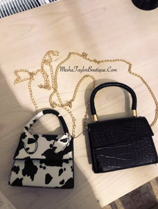 Luxury Mini Cow Print Cross Bag
