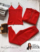 Load image into Gallery viewer, 3pcs Cardigans Tracksuit set
