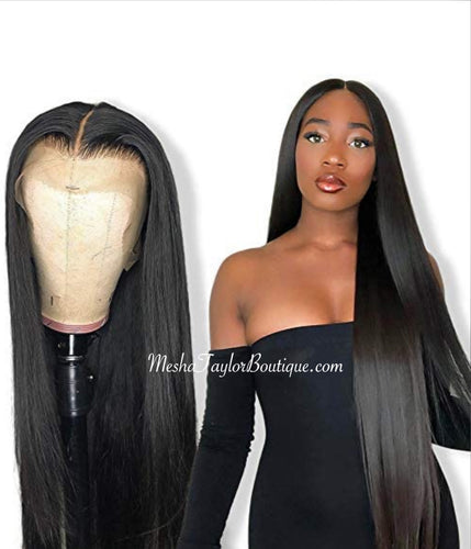 Brazilian 100% Human Middle Part Lace Frontal Wig