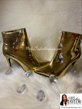Load image into Gallery viewer, Gold Luxury Ankle Boots