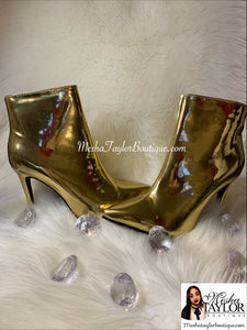 Gold Luxury Ankle Boots