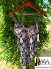 Load image into Gallery viewer, Luxury Snakeskin Print Body Suit
