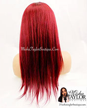 Load image into Gallery viewer, Brazilian Red Wine, 100% Human Lace Frontal Wig