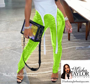 Leather High Waist Skinny Pants