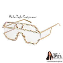 Load image into Gallery viewer, Pearl Rhinestone Embellished Sunglasses