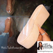Load image into Gallery viewer, Nude Translucent Platform Heel