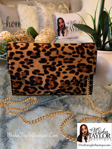 Leopard Print Cross Bag