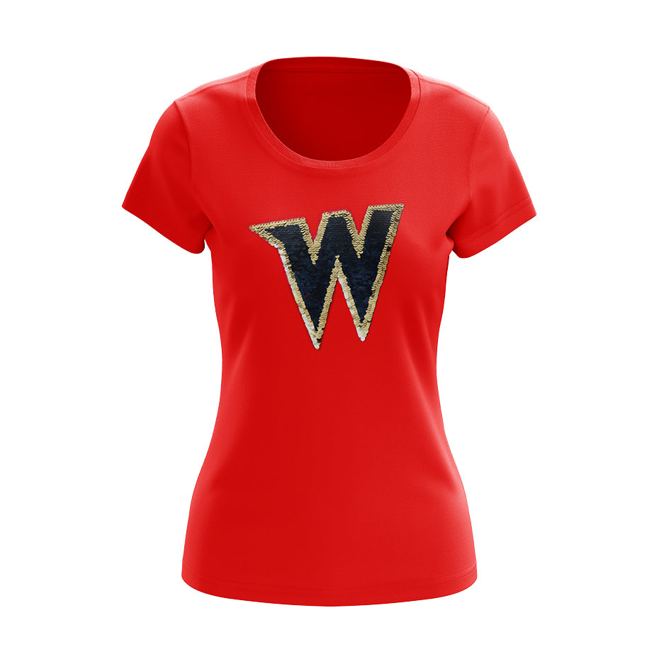 W Sequin T-shirt - Ladies