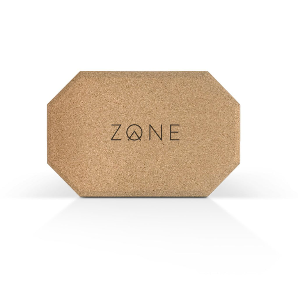 sustainable cork yoga block in octagonal design