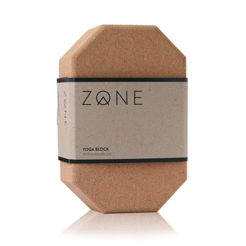 Cork Yoga Block in plastic free packaging