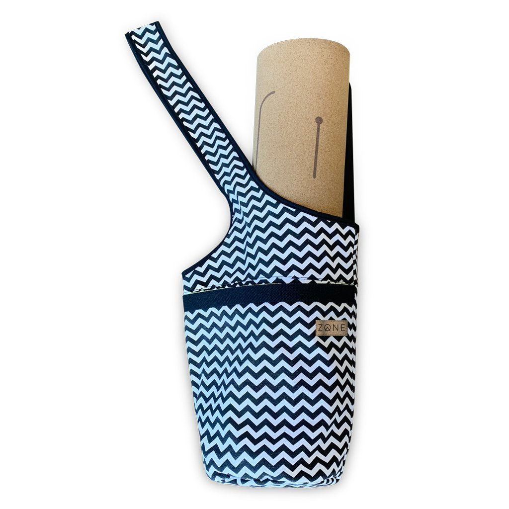 ZONE yoga mat bag in monochrome pattern