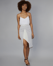Load image into Gallery viewer, Jebbeh Asymmetric Grey Skirt