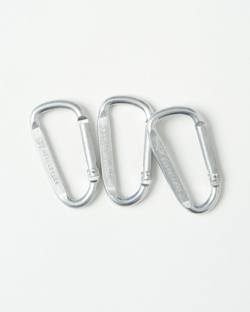 color: aluminum ~ alt: GBY Ultralight - Aluminum Carabiner 57mm 3-Pack ~ info: 3-Pack