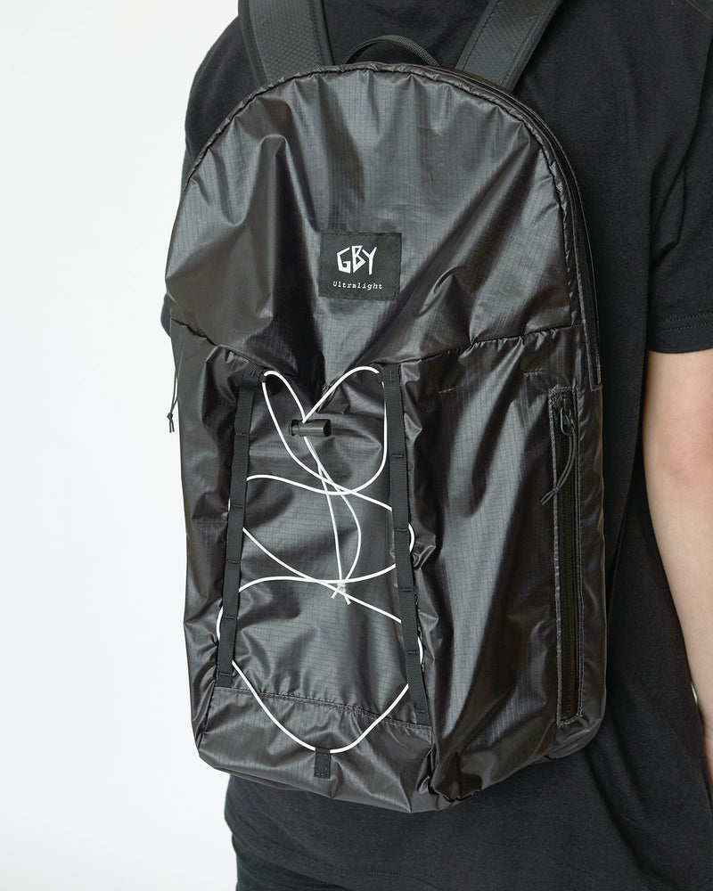 color: black ~ info: Empty pack ~ alt: GBY Ultralight Laptop Day Pack Lightest In The World - Empty pack