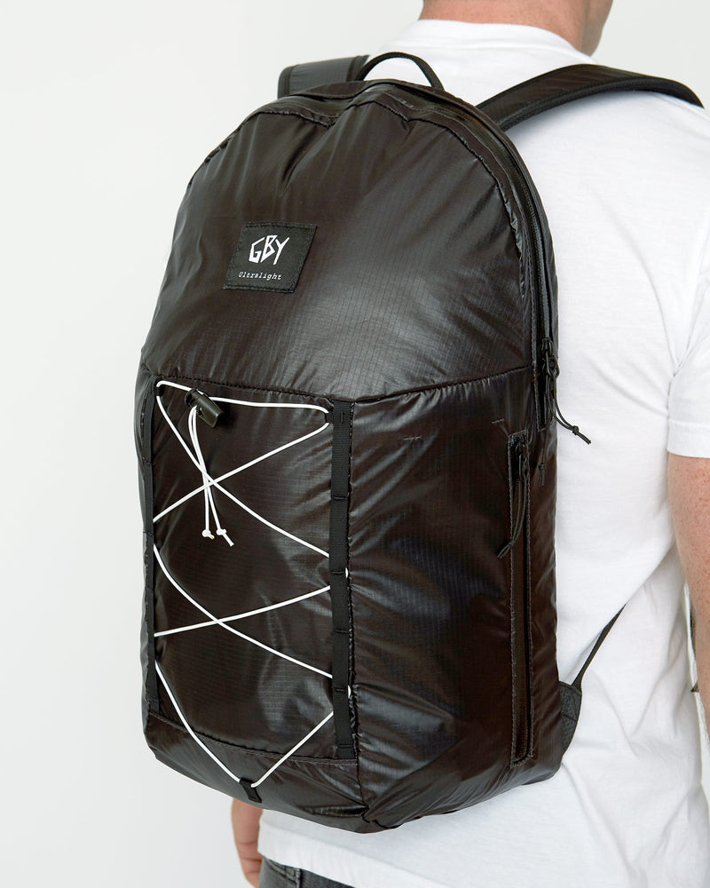 color: black ~ alt: GBY Ultralight Laptop Day Pack Lightest In The World - 3/4 view