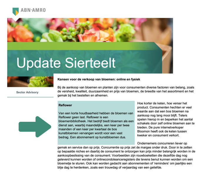 Reflower in ABN-AMRO Sierteelt Update