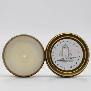 Jazz Notes - Gardenia and Lemon Peel Soy Candle