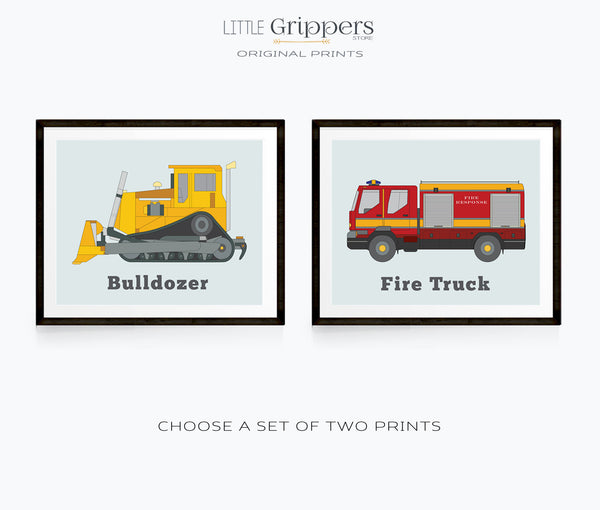 Vehicle print set of two