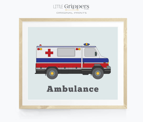 Ambulance Printable wall art