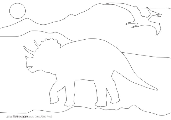 Free Dinosaur Colouring Page