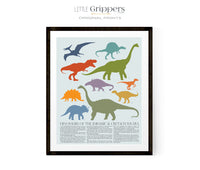 Dinosaur Poster for Kids