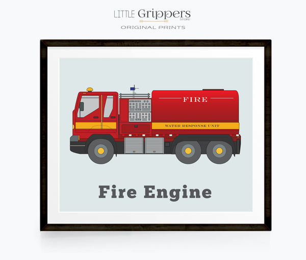 Fire Engine wall print