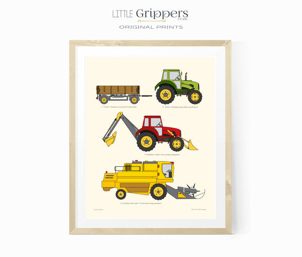 Farm Machinery printable