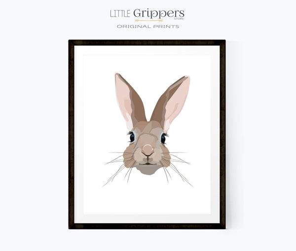 Rabbit wall print