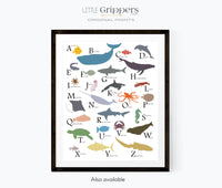 Sea animal counting poster