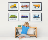 Vehicle Print Set of Six