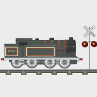 Small Train Decal