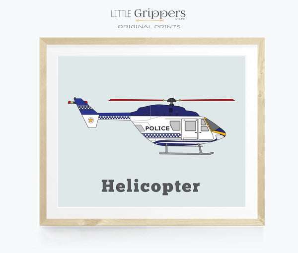 Helicopter wall art