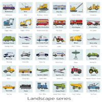 Transportation Vehicle print set