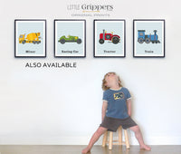 Train wall art kids print