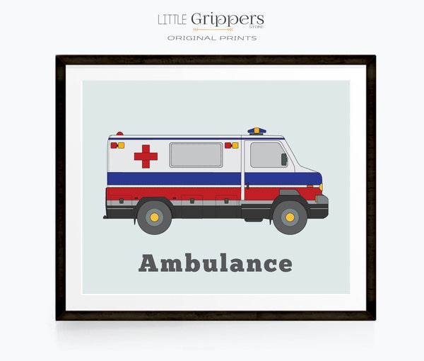 Ambulance print for toddlers