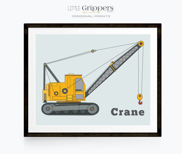 Construction Crane wall art