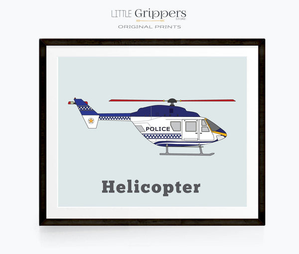 Helicopter wall art for kids