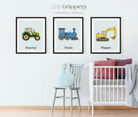 Vehicle print set of three