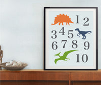 Dinosaur print set of two