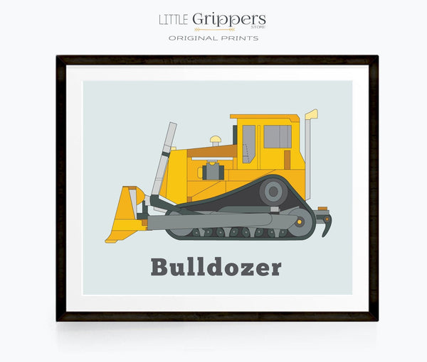 Kids bulldozer truck decor