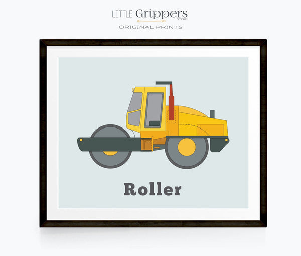 Road Roller construction truck print