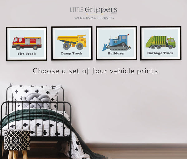 Transportation prints for boy rooms