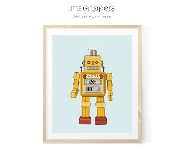 Yellow Robot kids print