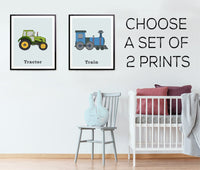 Transportation wall art for toddlers
