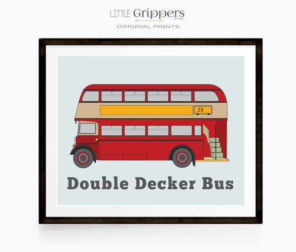 London Double decker bus print