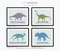 Dinosaur print set of four